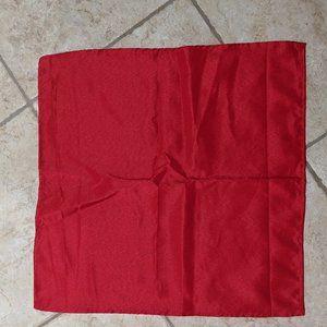 One Red Square Linen Napkin